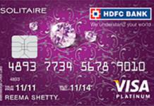 HDFC Solitaire Credit Card Reviews