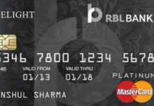 RBL Platinum Delight Credit Card Reviews