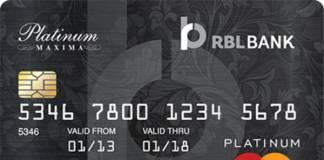 RBL Platinum Maxima Credit Card Reviews