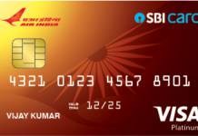 SBI Air India Platinum Credit Card Reviews