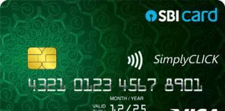 SimplyCLICK SBI Credit Card