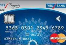 Yes Prosperity Edge Credit Card
