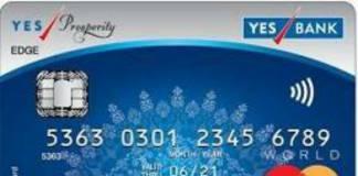 Yes Prosperity Edge Credit Card